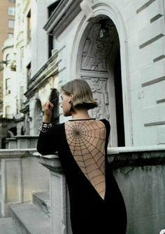 Spider web open back dress