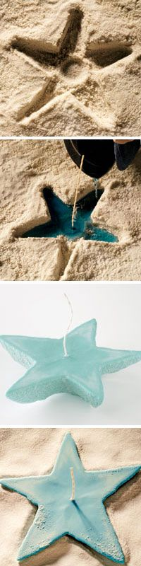 OMG!! Pretty up your picnic table with an easy-to-make sand candle from the June/July issue of Taste of Home.