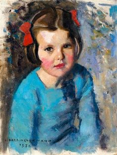 Red ribbons by Harrington Mann. Oil on Canvasboard, 1936. https://www.amazon.com/Painting-Educational-Learning-Children-Toddlers/dp/B075C1MC5T