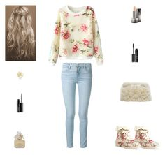 """""""Contest: Cream Floral Outfit"""" by billsacred ❤ liked on Polyvore featuring mode, Aéropostale, Frame Denim, Kate Spade, Burberry, Marc by Marc Jacobs, NARS Cosmetics et MAC Cosmetics"""