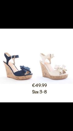 Get Summer Ready in these gorgeous wedges available in navy or cream Therapy, Footwear, Wedges, Cream, Navy, Summer, Shoes, Fashion, Creme Caramel