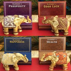 Decorative Mini Elephants   Send guests home with  warm wishes of Prosperity, Good Luck, Happiness, and Wealth at your next event with these beautiful Elephant favors!