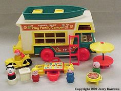 Gosh we had so much FisherPrice. We would spread everything out and have a whole town!