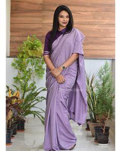Kerala Saree Blouse Designs, Cotton Saree Blouse Designs, Blouse Patterns, Formal Saree, Casual Saree, Indian Dress Up, Indian Wear, Simple Sarees, Saree Trends
