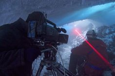 The Frozen Planet team films the first proper exploration of the ice caves of Mt Erebus. The Frozen Planet team films the first proper exploration of the ice caves of Mt Erebus. ©Chadden Hunter #Discovery #Ice #FrozenPlanet #BBC #Caves