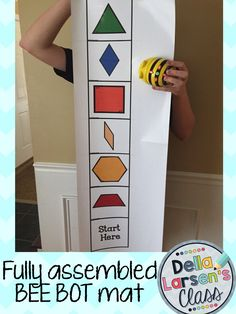 BEE BOT MAT. Tangram shape Bee-Bot mat fully assembled and laminated. Shipped to you ready to use out of the package.  For use with BEE BOT robot. Perfect for kindergarten and 1st grade math centers.