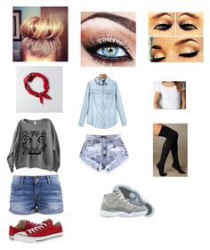 best friend outfits by jada20432-dc on Polyvore featuring American Eagle Outfitters, Hue and Converse