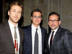 Star Tracks: Tuesday, November 24, 2015 | SHORT STORY | Ryan Gosling and Brad Pitt make everyone's #ManCrushMonday dreams come true as they pose with Steve Carell on Monday night at the afterparty for The Big Short premiere in N.Y.C.