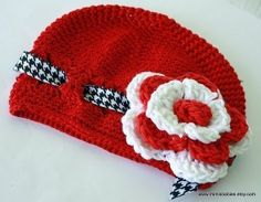 Roll Tide INFANT Kufi Style Hat with Red/White by MimisBabiesProps, $16.00
