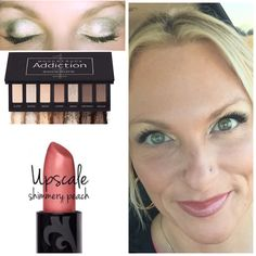 Get the look! Younique Addiction palette # 1 Opulence lipstick in Upscale ❤️ Smudge proof - velvety love for your lips! Toxic free! Makeup tips! #youniquepalette #naked #toxicfree #naturallips #realwomen