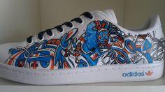 Adidas Stan smith – Topaz | Noise aka N°15 | Paint | Graphic design | Street art