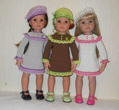 Вязаные платья для кукол Gotz 50см ростом / Одежда для кукол / Шопик. Продать купить куклу / Бэйбики. Куклы фото. Одежда для кукол