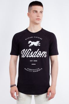 "Longline ""Wisdom"" Raglan T-Shirt"