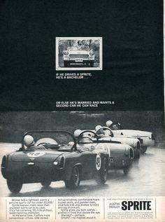 1965 Austin Healey Sprite Advertisement Road & Track June 1965 | Flickr - Photo Sharing!
