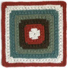 Free crochet afghan square pattern: Maggie's Square
