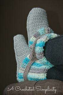 Slouchyslipperbootbluewm1_small2 by Crocheted Simplicity.  Love these!  2 different cuff styles to choose from.  :)
