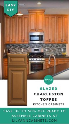 Lilyanncabinets Glazed Charleston Namesake Toffee Cabinets Made Of Maple Provide A Look Elegance