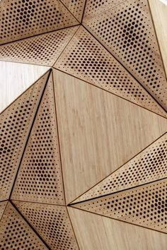 THE WOOD COLLECTOR | Wooden Acoustic Panels that uses principles of origami to transform the acoustic and physical environment. by RVTR