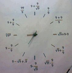 Funny pictures about A special clock. Oh, and cool pics about A special clock. Also, A special clock. Math Tutor, Math Teacher, Teaching Math, Math Skills, Math Lessons, Love Math, Fun Math, Math Math, Algebra