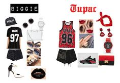 """""""Biggie⚫️    Tupac"""" by fashion-x-fashion ❤ liked on Polyvore featuring Zara, Best, Jennifer Loiselle, MICHAEL Michael Kors, FOSSIL, Kobelli, GUESS, NIKE and Milly"""