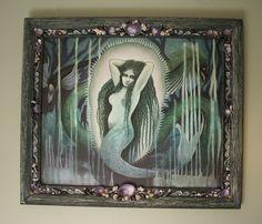 PACIFIC PUTTANESQUE Victorian Fantasy Mermaid  by snazzy888, $1300.00 Mermaid, Victorian, Fantasy, Frame, Products, Decor, Art, Picture Frame, Art Background