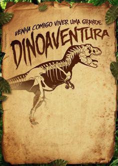 Convite Pergaminho Dinossauro 3
