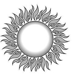 Love this design for a sun tattoo but with color