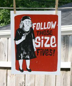 follow those size fives.