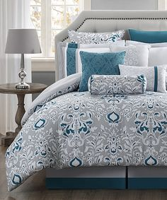 Look what I found on #zulily! Chloe Reversible Comforter Set by S.L. Home Fashions #zulilyfinds