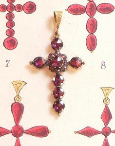 Croix en Grenat de Perpignan vers 1890