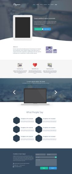 Claymore  App Landing Page PSD