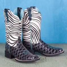 Ariat Ladies' Zebra Quickdraw Boots