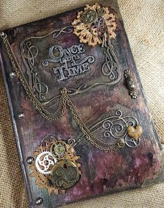 Safari Steampunk Anyone? Steampunk is a rapidly growing subculture of science fiction and fashion. Steam Punk Diy, Steampunk Book, Steampunk Crafts, Steampunk Design, Handmade Journals, Handmade Books, Handmade Notebook, Handmade Art, Altered Book Art