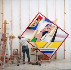 Rotating easel - Studio Roy Lichtenstein