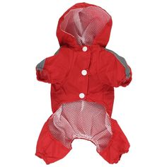 Pet Dog Puppy Outdoor Waterproof Jacket Jumpsuit Rain Coat XS Red >>> For more information, visit now (This is an amazon affiliate link. I may earn commission from it)