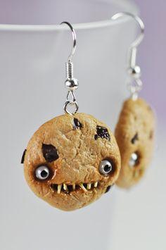 Earrings - Creepy Chocolate Chip Cookies. €8,00, via Etsy.
