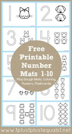 Free Number Coloring Printables
