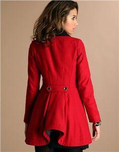 Womens Red Military Coat kEEurC