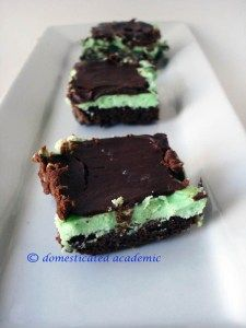 Mint Buttercream & Ganache Brownies | Domesticated Academic