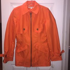 NWT Tommy Hilfiger size 6 Clemson orange jacket NWT Tommy Hilfiger women's size 6 orange jacket! Fully lined in a blue bold! Thicker jacket perfect to keep you warm! Deep pockets & inside pocket too! Tommy Hilfiger Jackets & Coats