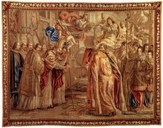 Urban VIII Consecrates St Peter's Basilica 1660s Wool and silk tapestry Musei Vaticani, Vatican