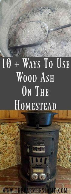 Wood ash on the homestead
