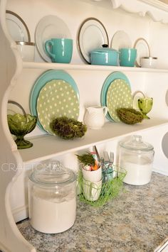 love the colors on this hutch!! I need a hutch for my dining room asap