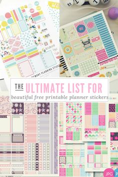 The Ultimate List for Beautiful Free Printable Planner Stickers http://www.wendaful.com/2016/09/ultimate-list-beautiful-free-printable-planner-stickers/