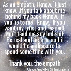 Got some fantastic empath workshops geared towards reclaiming power. They work a treat 😊❤👌 You Lied To Me, Lie To Me, Empath Abilities, Intuitive Empath, Psychic Empath, Empath Traits, Indigo Children, Infj Personality, Spiritual Awakening