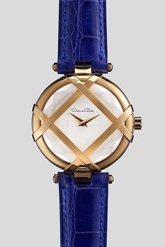 Oscar de la Renta and Shinola's Lattice watch. [Courtesy Photo]