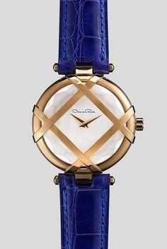 Oscar de la Renta and Shinola's Lattice watch. [Courtesy Photo]
