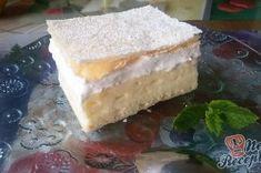 Nejrychlejší a nejlepší krémeš – FOTOPOSTUP – RECETIMA Pudding, Vanilla Cake, Cheesecake, Food, Powdered Sugar, Sheet Pan, Top Recipes, Oven, Dessert Ideas
