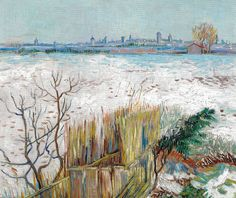 Vincent van Gogh - Snowy Landscape with Arles in the Background, 1888 (Private Collection) Van Gogh: Up Close at Philadelphia Museum of Art (Postcard)