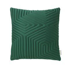 De Optical Memory Kussens zijn gemaakt van 3D geweven stof bestaande uit 65% katoen en 35% polyester in combinatie met memory foam. Verkrijgbaar in de kleuren groen, grijs, blauw en nude.   Afmetingen 45 cm x 45 cm.